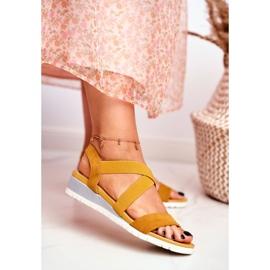 SEA Women's Sandals On Wedge Yellow Slip-on Harper 2