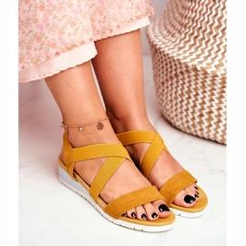 SEA Women's Sandals On Wedge Yellow Slip-on Harper 4
