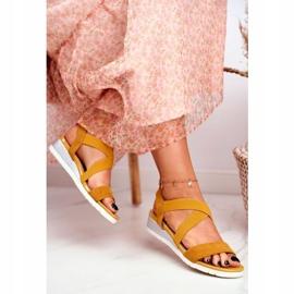SEA Women's Sandals On Wedge Yellow Slip-on Harper 3