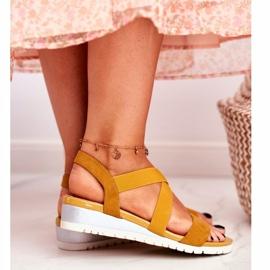 SEA Women's Sandals On Wedge Yellow Slip-on Harper 6