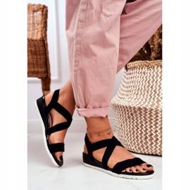 SEA Women's Sandals On Wedge Black Slip-on Harper 3