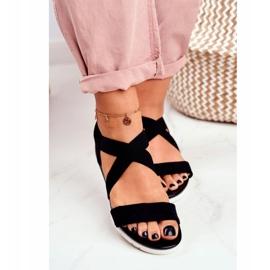 SEA Women's Sandals On Wedge Black Slip-on Harper 4