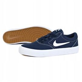 Nike Sb Charge Cnvs Jr CQ0260-400 shoes navy blue grey 1