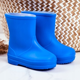 Children's Blue Classic Lullaby Rubber Galoshes 1