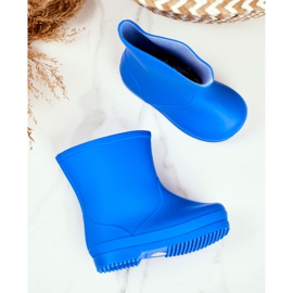 Children's Blue Classic Lullaby Rubber Galoshes 3