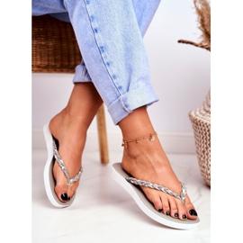 SEA Women's Slippers Flip-flops Braided Belt Gray Peggie grey 1
