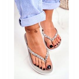 SEA Women's Slippers Flip-flops Braided Belt Gray Peggie grey 2