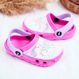 Children's Slippers Foam Crocs Pink Ponies Pony 3