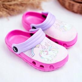 Children's Slippers Foam Crocs Pink Ponies Pony 1