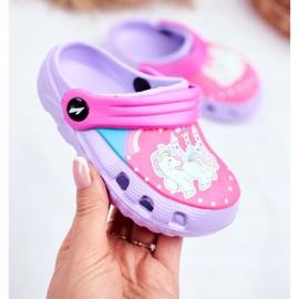 Children's Slippers Foam Crocs Violet Ponies Pony 2