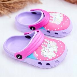 Children's Slippers Foam Crocs Violet Ponies Pony 1