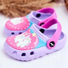 Children's Slippers Foam Crocs Violet Ponies Pony 3