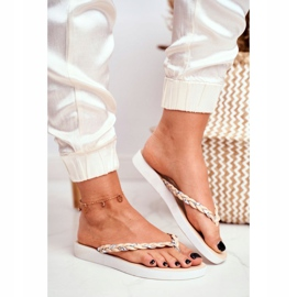 SEA Women's Slippers Flip-flops Braided Belt Beige Peggie brown 1
