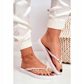 SEA Women's Slippers Flip-flops Braided Belt Pink Peggie 1