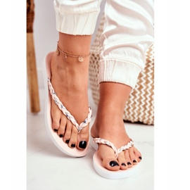 SEA Women's Slippers Flip-flops Braided Belt Pink Peggie 2