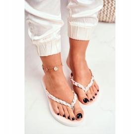 SEA Women's Slippers Flip-flops Braided Belt Pink Peggie 3