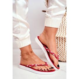 SEA Women's Slippers Flip-Flops Braided Belt Red Peggie 1
