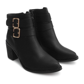 Boots On Heel F026 Black 1
