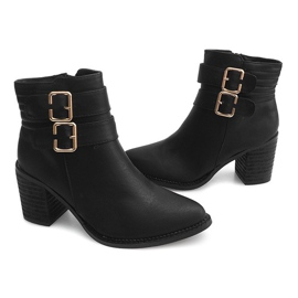 Boots On Heel F026 Black 2