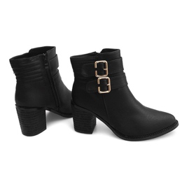 Boots On Heel F026 Black 3