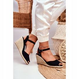 Women's Sandals On A Braided Wedge Big Star Black DD274A209 2