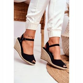 Women's Sandals On A Braided Wedge Big Star Black DD274A209 5