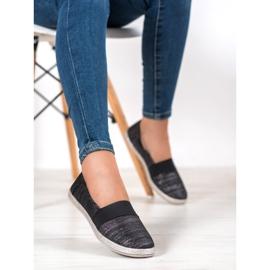 SHELOVET Stylish Slip-On Sneakers black 1