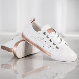 Bella Paris Sneakers With Openwork Pattern white 3
