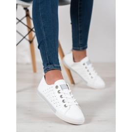 Bella Paris Sneakers With Openwork Pattern white 1