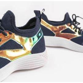 Navy blue HB-42 sports shoes golden 4