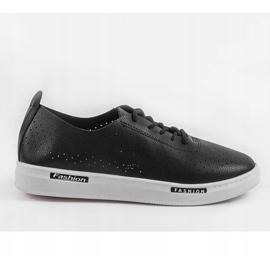 Black QW8368-1 openwork sport sneakers 4