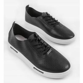 Black QW8368-1 openwork sport sneakers 3