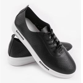 Black QW8368-1 openwork sport sneakers 2
