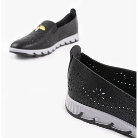 Black openwork sneakers with an imprint of JH81172-3 4