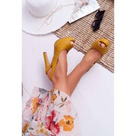 Moow Platform Heels Women's Sandals Yellow Lorajn 2