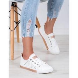 Bella Paris Sneakers With Openwork Pattern white 5