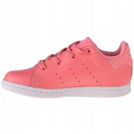 Adidas Stan Smith El K EF4928 shoes pink grey 1