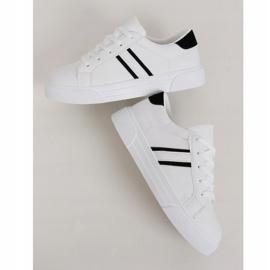 White women's sneakers CC-20 Black 1