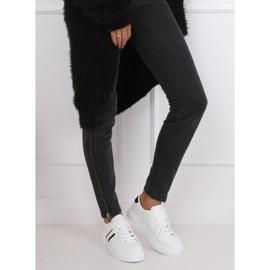 White women's sneakers CC-20 Black 2