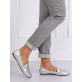 Silver metallic loafers 9F176 Silver grey 3