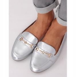 Silver metallic loafers 9F176 Silver grey 2