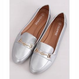 Silver metallic loafers 9F176 Silver grey 1