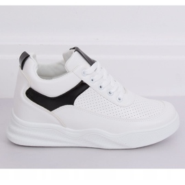 White sports shoes with wedges 85-429 WHITE / BLACK 3