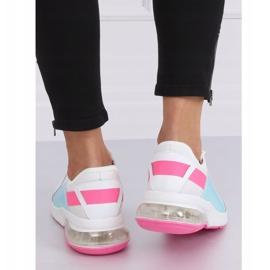 White women's sports shoes F-3336 WHITE / FUSHIA pink 1