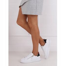 White women's sneakers KK-206 WHITE / BLACK 2