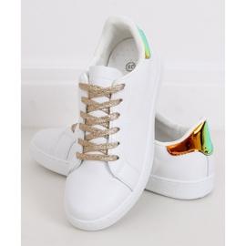 White 5G-2 Gold women's sneakers 3