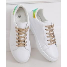 White 5G-2 Gold women's sneakers 2