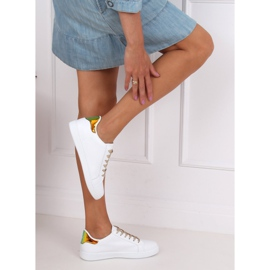 White 5G-2 Gold women's sneakers 5