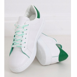 White 5G-2 Green women's sneakers 1