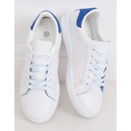 White 5G-2 Blue women's sneakers 2
